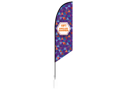10ft Angled Feather Flag with Ground Stake