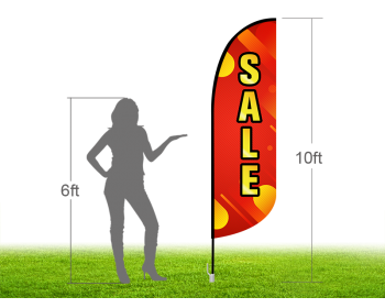10ft SALE Stock Blade Flag with Ground Stake 05
