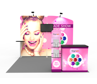 10x10ft Custom Panel & Element Trade Show Booth A1