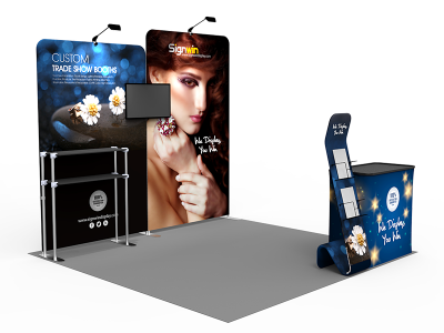 10x10ft Custom Trade Show Booth B1