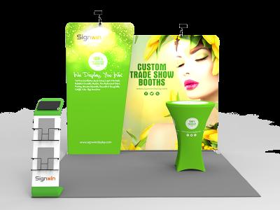 10x10ft Custom Trade Show Booth N