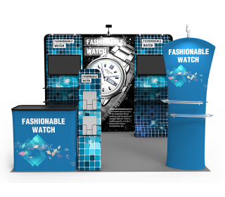 10x10ft Custom Trade Show Booth W