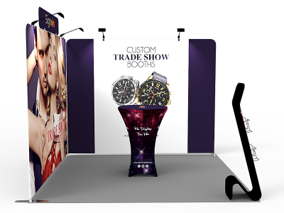 10x10ft Custom Trade Show Booth X