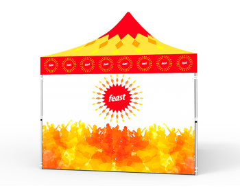 10x10 Custom Pop Up Canopy Tent & 4 x Single-Sided Full Walls