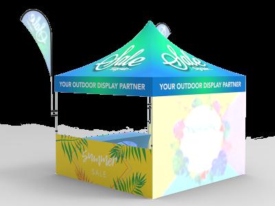 10x10 Custom Pop Up Canopy Tent Combos 12