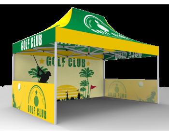 10x15 Custom Pop Up Canopy Tent & Single-Sided Full Backwall & 2 x Single-Sided Half Sidewalls