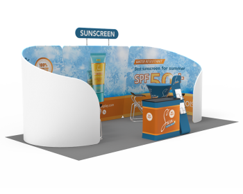 10x20ft Custom Trade Show Booth 09