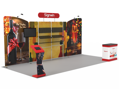 10x20ft Custom Trade Show Booth 17