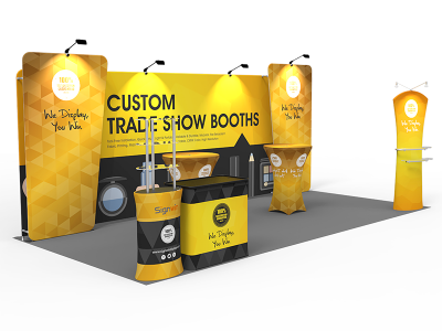 10x20ft Custom Trade Show Booth O