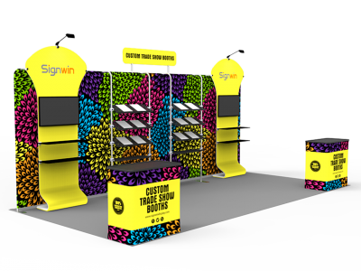 10x20ft Custom Trade Show Booth P