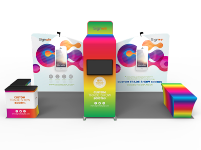 10x20ft Custom Trade Show Booth Q