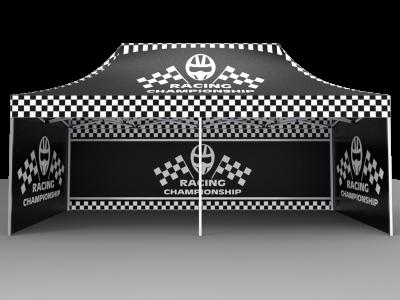 10x20 Custom Pop Up Canopy Tent & Double-Sided Full Backwall & 2 x Double-Sided Full Sidewalls