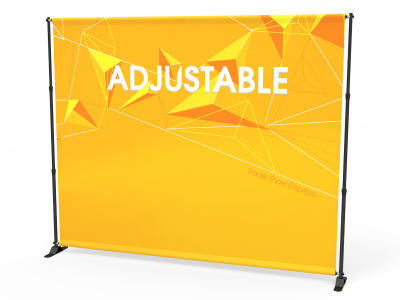 Custom 10ft Adjustable Large Tube Telescopic Tension Fabric Backdrop Banner Stand Display (Frame + Graphic)