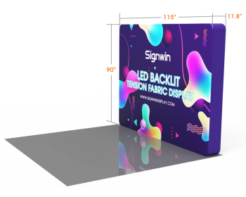 Custom 10ft Flat Brilliant Tension Fabric LED Backlit Trade Show Display