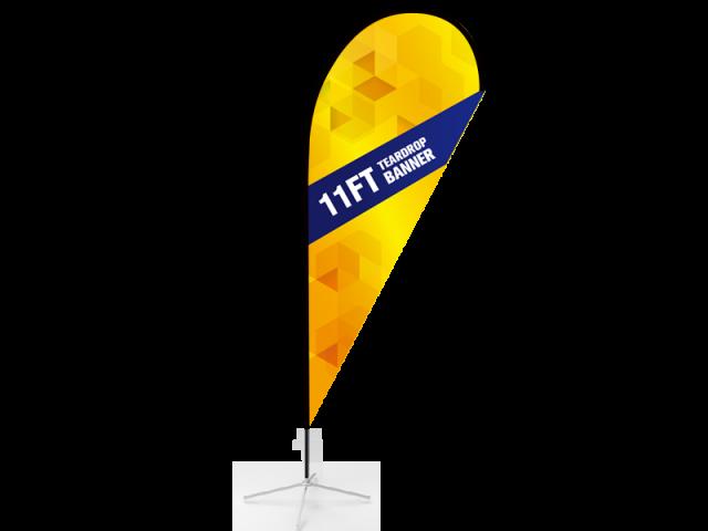 11ft Teardrop Flag with Cross Base & Water Bag