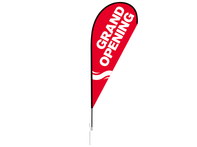 11ft GRAND OPENING Stock Teardrop Flag with Ground Stake 03