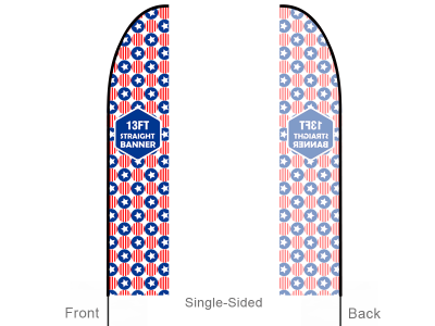 13ft Straight Feather Flag with Cross Base & Water Bag