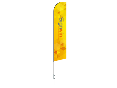 16ft Swooper & Econo Feather Flag with Ground Stake