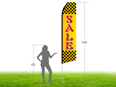 16ft SALE Stock Swooper Flag with Ground Stake 01
