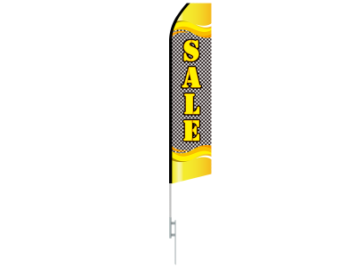 16ft SALE Stock Swooper Flag with Ground Stake 04