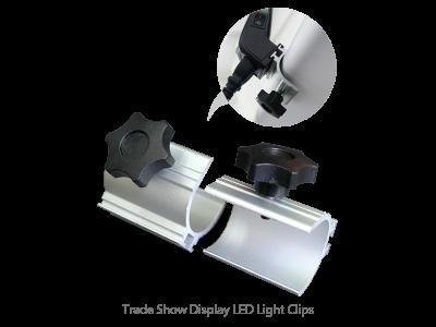 2pcs Trade Show Display LED Lights & Clips