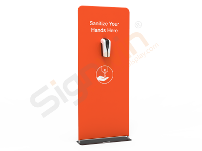 Public Automatic Hand Sanitizer Dispenser Printed Banner Stand