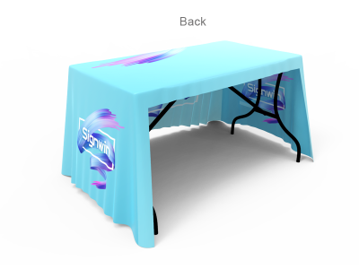 4ft 3-Sided Stylish Custom Printing Loose Table Throw