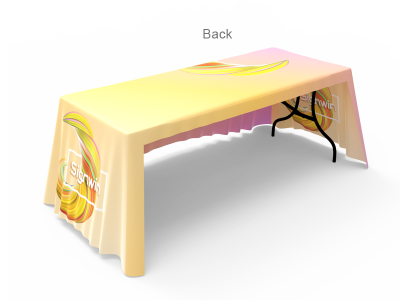 6ft 3-Sided Loose Table Throw Custom Printing with Logo