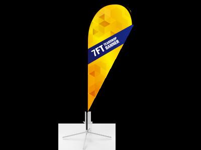 7ft Teardrop Flag  with Cross Base & Water Bag