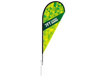 7ft Teardrop Flag  with Ground Stake