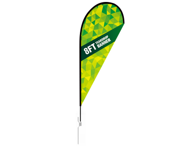 8ft Teardrop Flag with Ground Stake