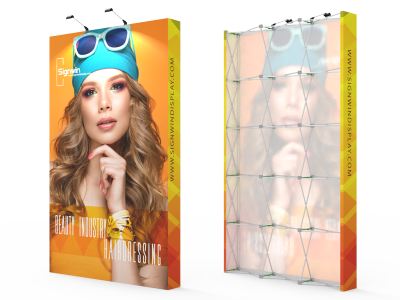 Custom 8x12ft Straight & Great Fabric Pop Up Trade Show Backwall Display (Frame + Graphic)