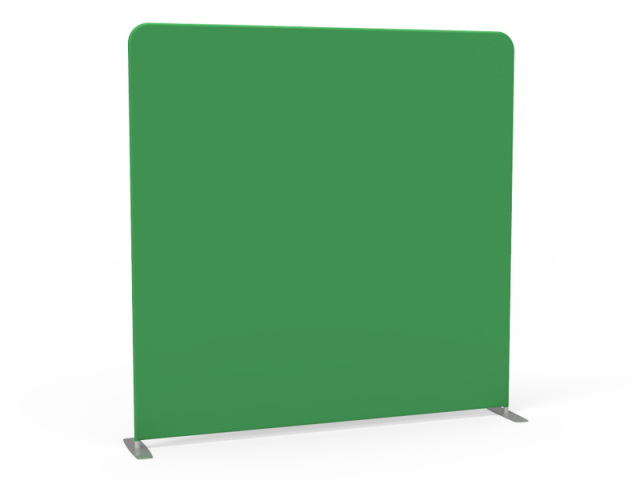 8x8 Stock Unprinted Green & White Flat Tension Fabric Backdrop Banner Stand