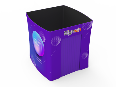 Custom 8x8ft Square Tapered Tension Fabric Convertible Private Trade Show Booth Enclosure Display