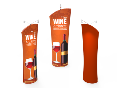 Angled Top Tension Fabric Banner Stand