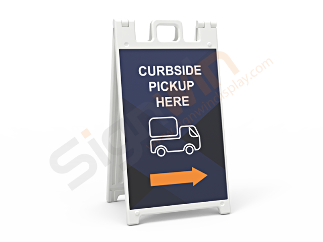 Signicade Standard A Frame Sign Display Graphic Print Curbside Pickup Here 01
