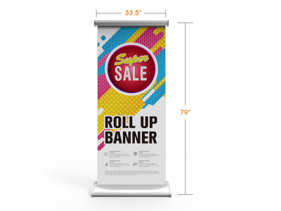 Deluxe Retractable Banner Stand with Wide Teardrop Base