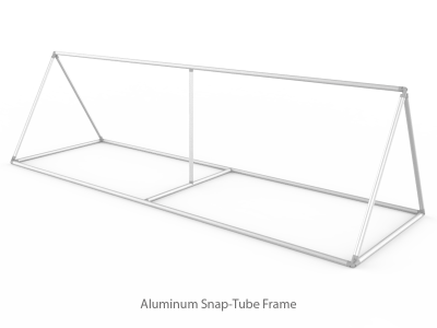 Large Triangular Outdoor Tension Fabric Banner Stand