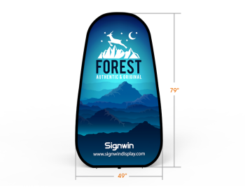 Large Vertical Pop Up A-Frame Banner