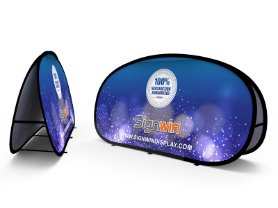 Medium Horizontal Pop Up A-Frame Banner Stand
