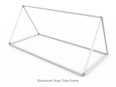 Medium Triangular Outdoor Tension Fabric Banner Stand