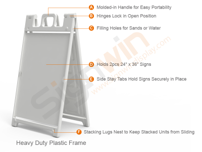 Signicade Deluxe A Frame Sign Graphic Print Plastic Holder for Promotion Advertising 02