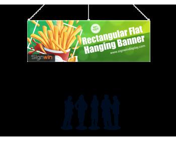 Rectangular Flat Hanging Banner Logo Printing for Events