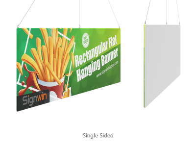 Rectangular Flat Hanging Banner Logo Printing for Events