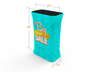 Rectangular Display Counter with Full Color Print