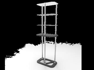 Rectangular Display Tower Counter with Fabric Printing