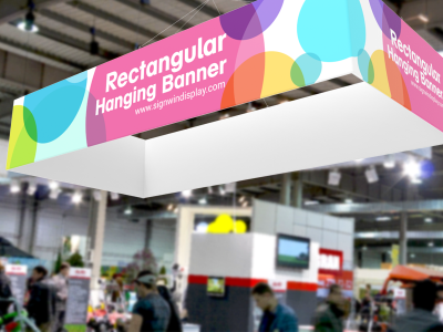 Rectangular Hanging Banner High Resolution Printing For Trade Shows