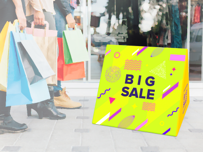 Small Triangular Outdoor Tension Fabric Banner Stand
