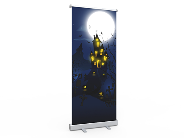 Standard Halloween Retractable Banner Stand with Economic Base 01
