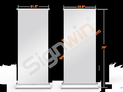 Sneeze Guard Screen Retractable/Roll up Freestanding + Deluxe Base